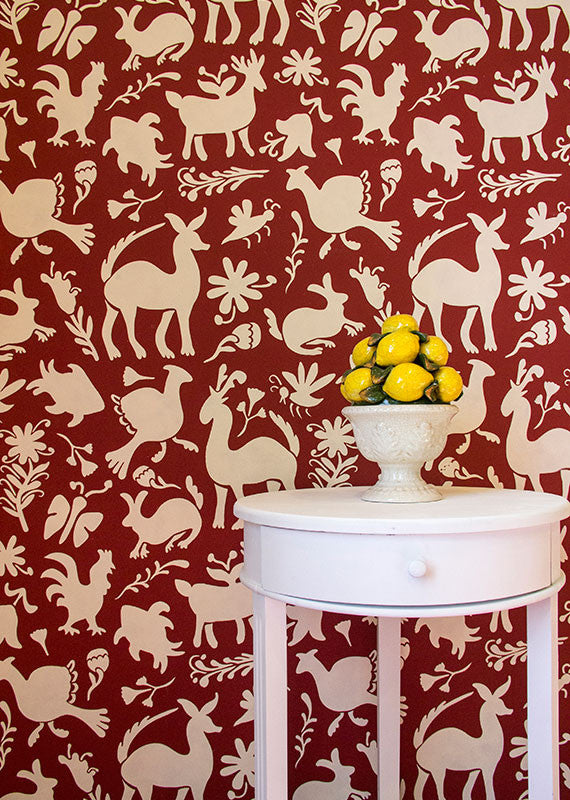 Mexican Otomi Folk Art Wall Stencils For Painting