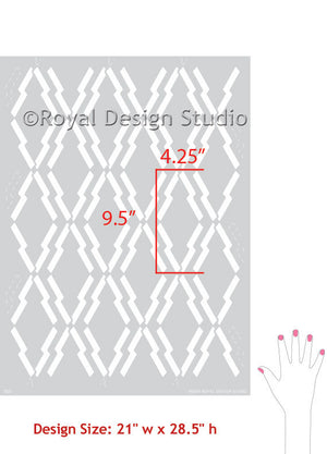 Tribal Patterns and African Design in Home Decor - DIY Stenciling Walls - Royal Design Studio Arrow Print Stencils