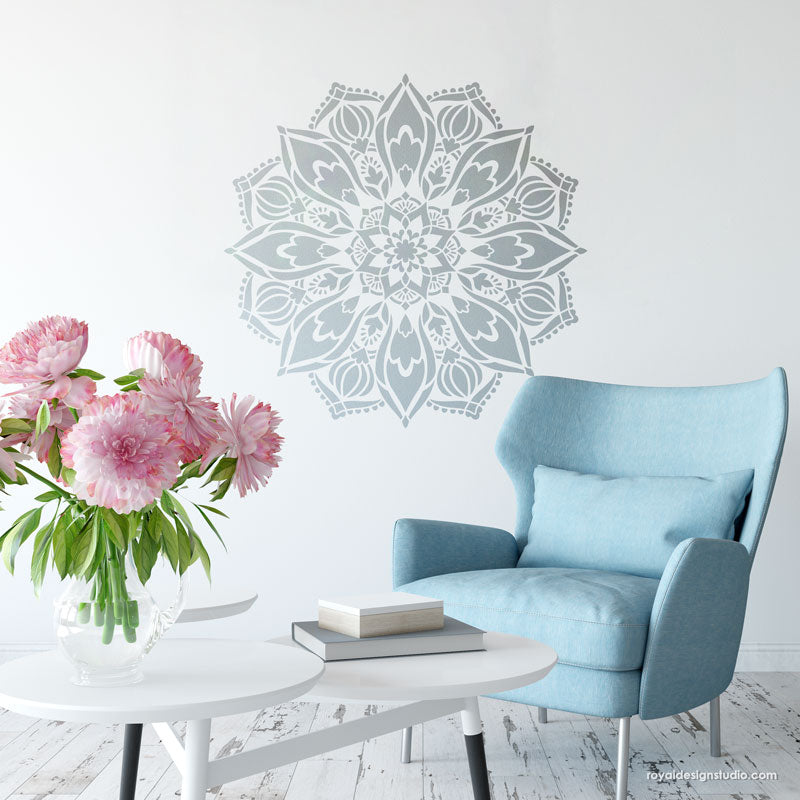 DIY Wallpaper and Wall Art with Mandala Decor Patterns - Royal Design Studio Wall Stencils