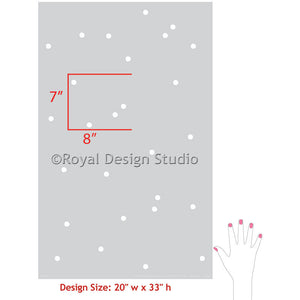 Painting Polka Dots on Walls with Wall Stencils - Royal Design Stuio