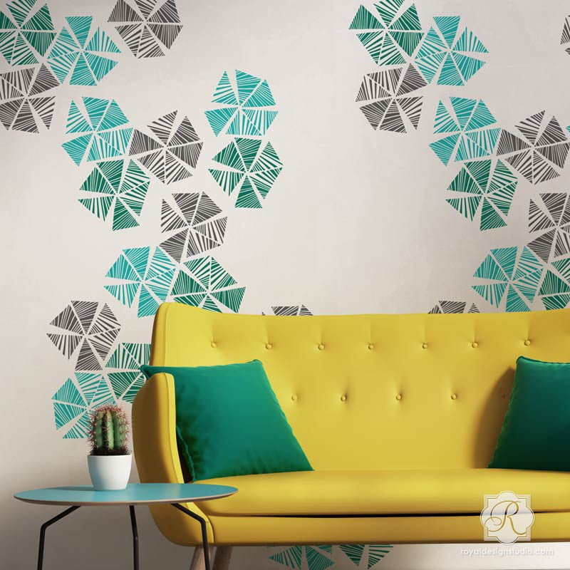 Colorful Wall Art Stencils To Decorate A Modern Room   Royal Design Studio  ...