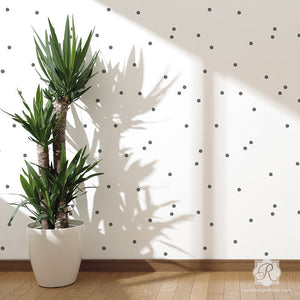 Modern Polka Dot Pattern - Designer Wall Stencils for Cute Nursery Decor and Accent Walls