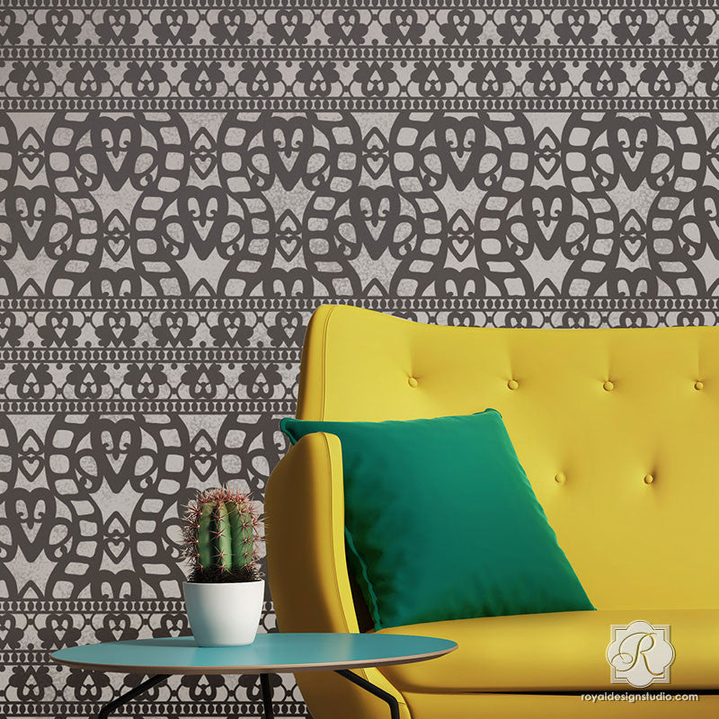 Cayman Lace Wall Stencil