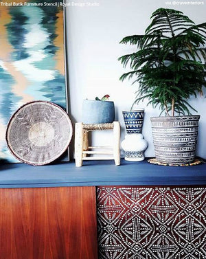 Tribal Batik Furniture Stencil