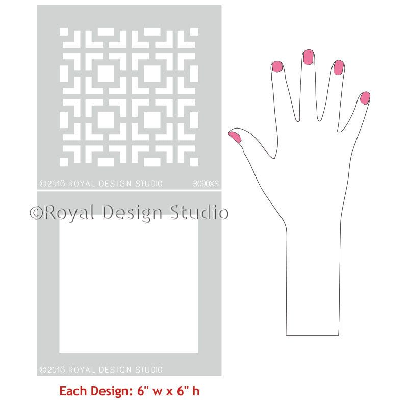 Easy DIY Decor Ideas with Hollywood Squares Craft Stencils - Royal Design Studio