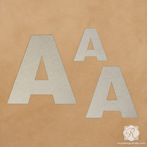 Decorate and Paint Sleek Letters Wall Art Wood Shapes and Monograms - Royal Design Studio