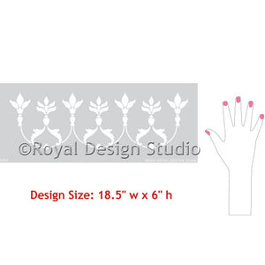 Decorative Moroccan Border Stencil for Painting Walls - Royal Design Studio