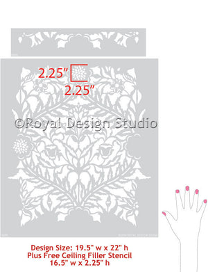 DIY Decorative Painting with Moroccan Stencils - Royal Design Studio