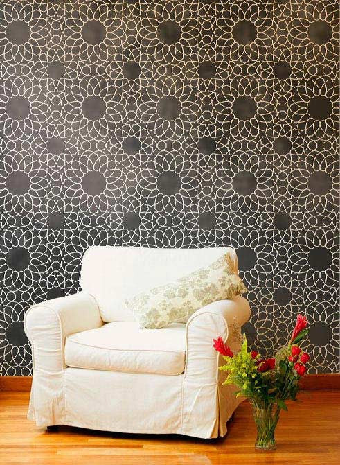 Moroccan Wall Stencils with Exotic Patterns for Elegant Accent Walls - Royal Design Studio