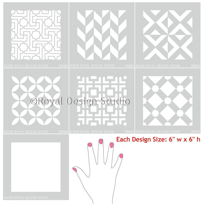 Mix and Match Moroccan Tile Stencils for DIY Decorating - Royal Design Studio
