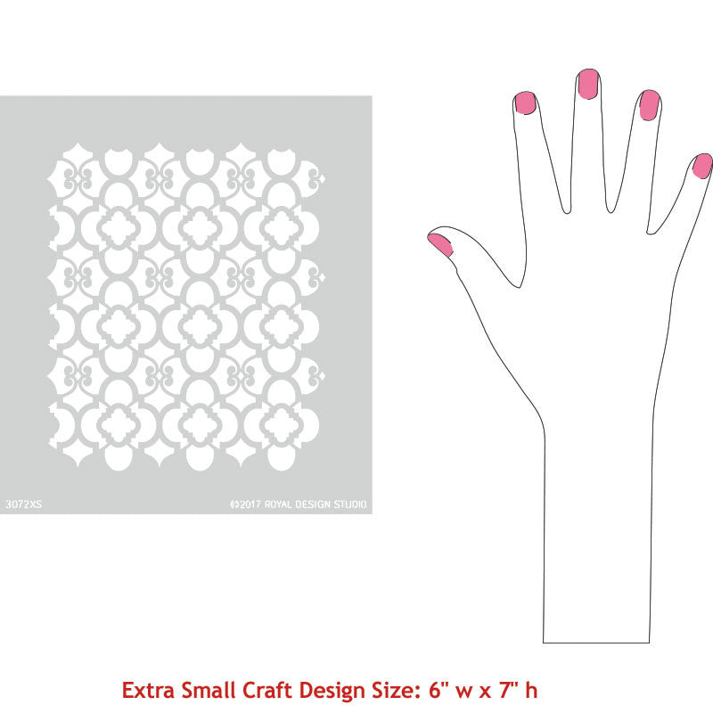 Interior Decor Painting - Furniture and Fabric Craft Stencils - Royal Design Studio