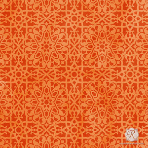 Moroccan Pattern for DIY Paint Projects - Mini Craft Stencils - Royal Design Studio