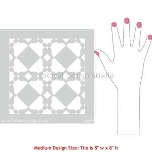 Moroccan Style Tile Stencils for Decorating Interior Decor - Royal Design Studio