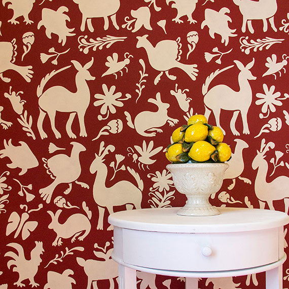 Otomi Folk Art Wall Stencil