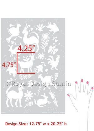 Otomi Folk Art Furniture Stencil