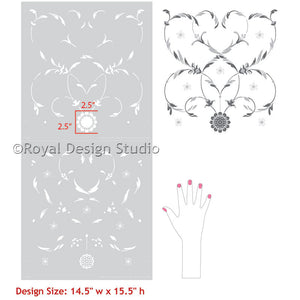 Intricate Painted Furniture Makeover with Italian Stencils - Royal Design Studio