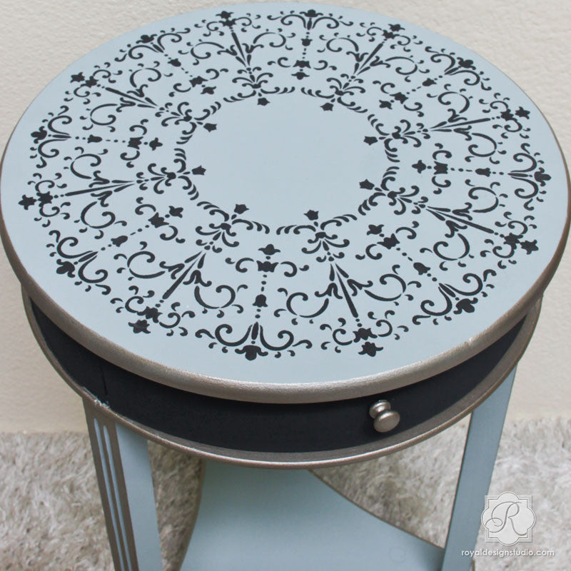 Painted Furniture with Italian Stencils - Medallion Designs - Royal Design Studio