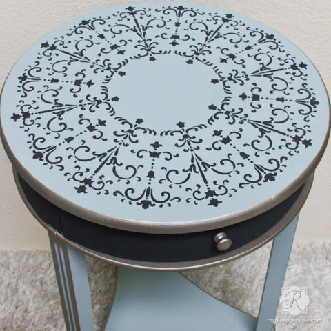 Painted Furniture With Italian Stencils   Medallion Designs   Royal Design  Studio