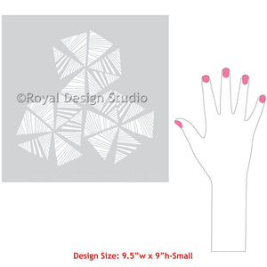 Painted Furniture Projects and DIY Crafts - Modern Wall Art Stencils for Painting - Royal Design Studio
