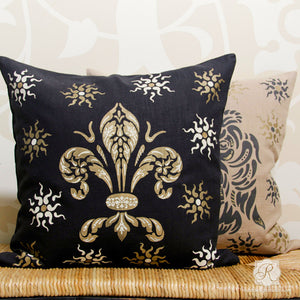 Paint Traditional European Shields Designs on Pillows, Walls, Furniture, and more - Royal Design Studio
