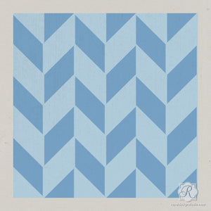 Modern DIY Decor with Herringbone Pattern Craft Stencils - Royal Design Studio