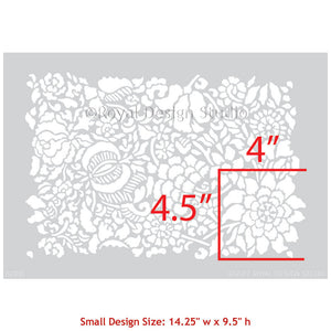 Francesca Floral Damask Furniture Stencil