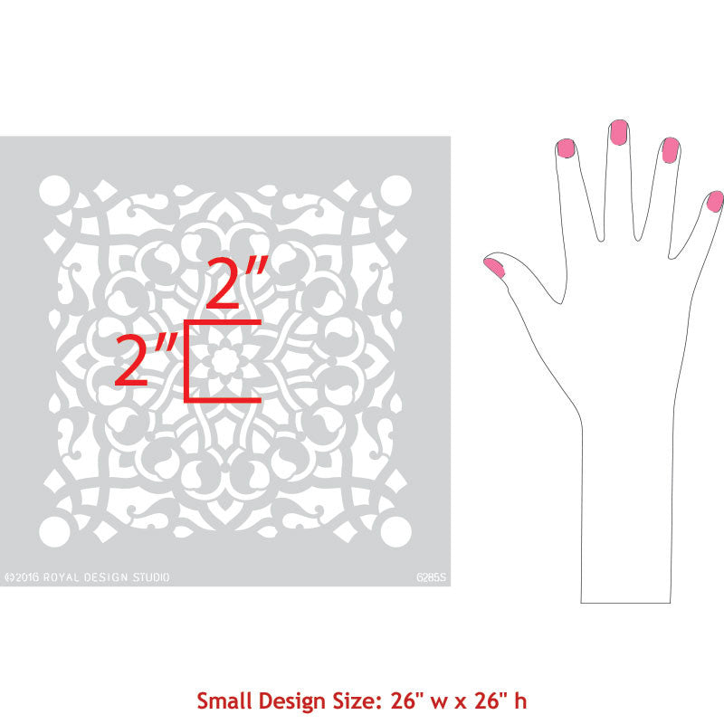 Upcycle Dresser or Table with Zahara Moroccan Furniture Stencils - Royal Design Studio