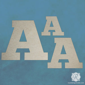 Decorate and Paint Letters Wall Art Wood Shapes and Monograms - Royal Design Studio