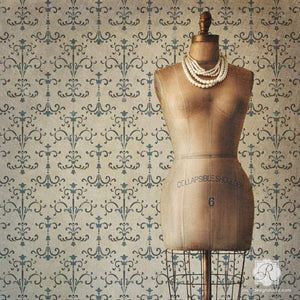European Design and DIY Italian Style - Decorating Room with Intricate Wall Stencils - Royal Design Studio