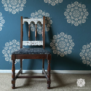 DIY Wallpaper and Wall Art with Mandala Decor Patterns - Royal Design Studio Wall Stencils-S