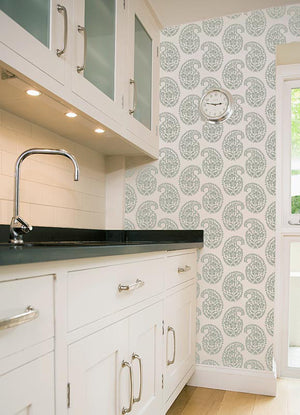 Paint Indian Paisley Designs on Kitchen Walls with Royal Design Studio