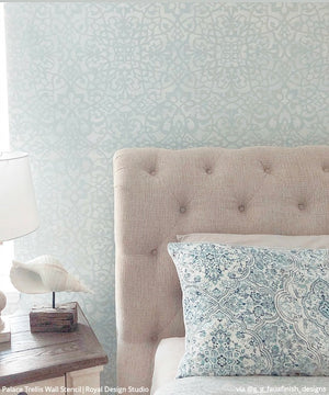 Palace Trellis Moroccan Wall Stencil