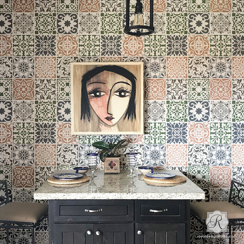 Tile Stencils for Walls, Floors, and DIY Kitchen Decor | Royal ...
