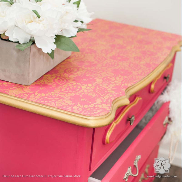 Fleur De Lace Furniture Stencil Royal Design Studio Stencils