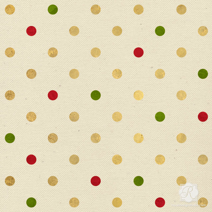 Modern Polka Dot Furniture & Craft Stencils for Sweet Christmas Party Decorations - Royal Design Studio
