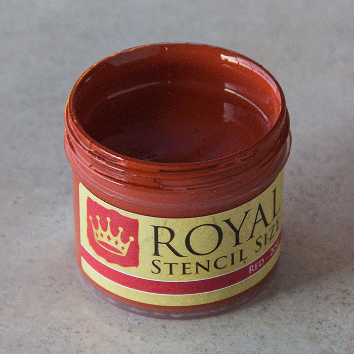 Red stencil gilding size by Royal Design Studio Stencils 2oz