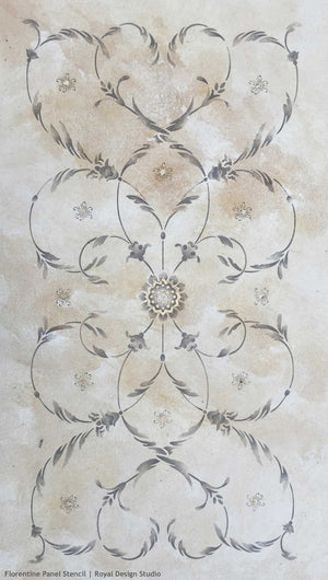 Painting Decorative Finishes on Italian Decor with Furniture Stencils - Royal Design Studio