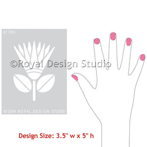 DIY Craft Stencils - African Protea Flower Allover Wall Stencils for Colorful and Exotic Home Decor - Royal Design Studio