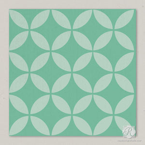 Small Craft Projects for DIY Decor - Endless Moorish Circles Moroccan Craft Stencils - Royal Design Studio