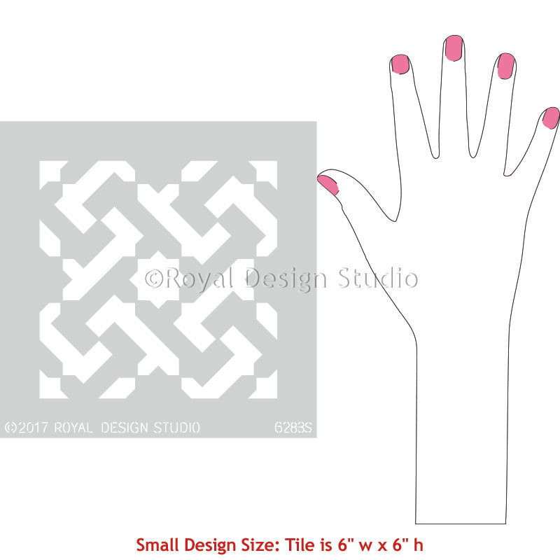 Moroccan Pattern and Decorating Idea using Geometric Floor Stencils - Royal Design Studio