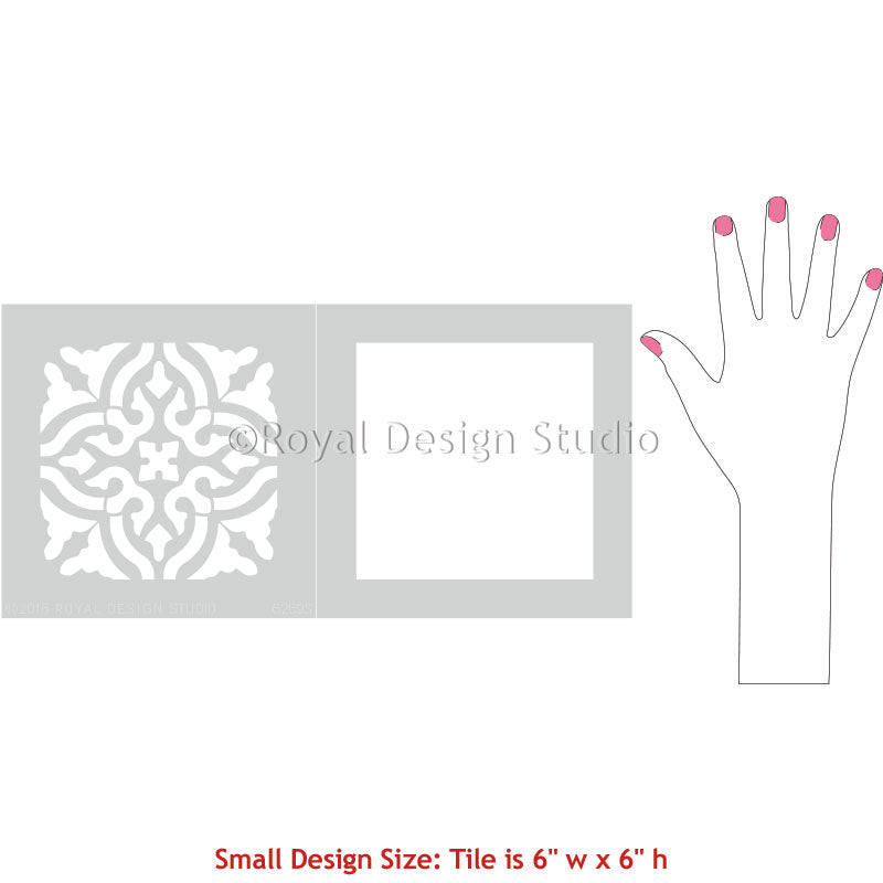 Small Tile Stencils for Decorating with Classic European Floor Patterns - Royal Design Studio