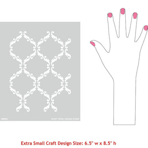 Stenciled Furniture or Pillows with Small Stencils - Royal Design Studio