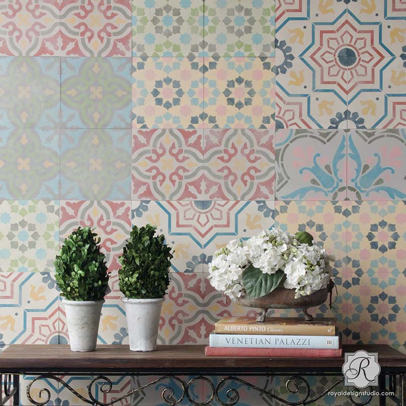 ... Mix And Match Tile Patterns For Allover Wall Art And European Design    Royal Design Studio ...