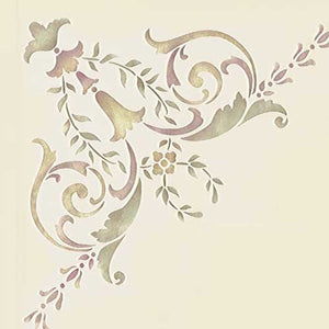 Painting a Victorian Ceiling - Classic Paint Stencils with European Design - Wall and Ceiling Stencils - Royal Design Studio