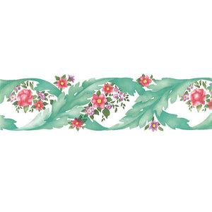 Vine Leaves English Flowers Stencils and Nature Border Stencils