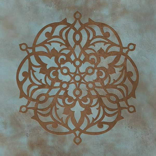 Ankara Impression C Stencil Design - Exotic Layered 3D Stenciled Wall Art - Royal Design Studio