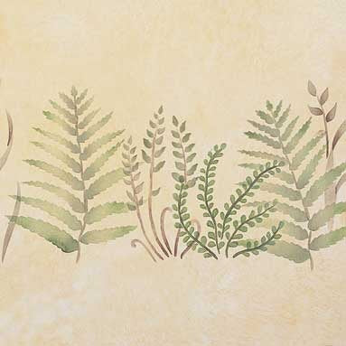 Baby Ferns Furniture Stencils - Furniture and Wall Art Stencils