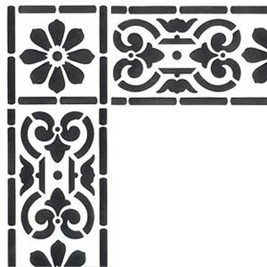 Classical Border & Corner Stencils for Painting Geometric and Floral Designs