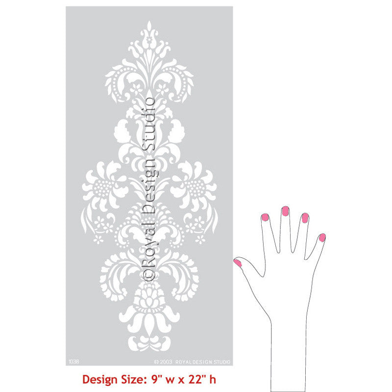 DIY Stenciled Furniture, Cabinets, Doors, and more with Delicate Floral Furniture Stencils - Royal Design Studio