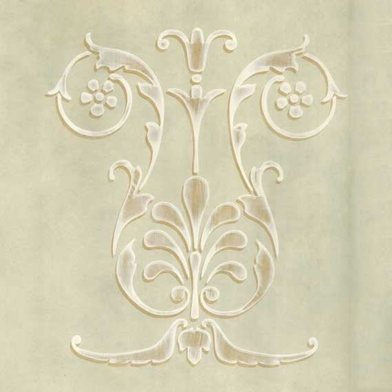 Floral Shell Classic Panel Stencil